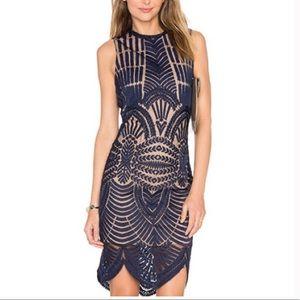 Bardot Alice Navy Lace Dress